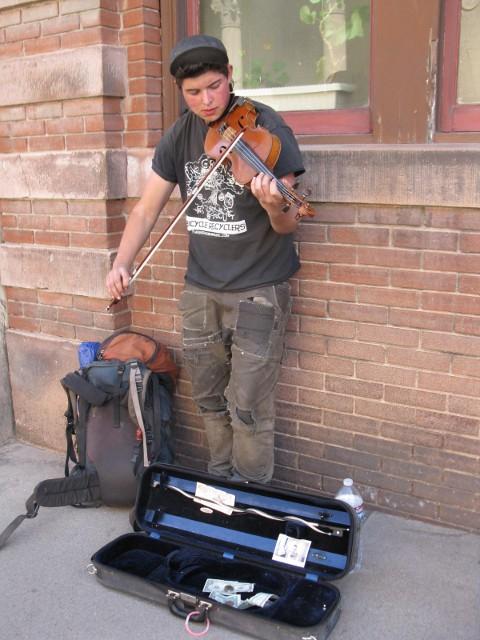 Street Musician in Bisbee, Arizona